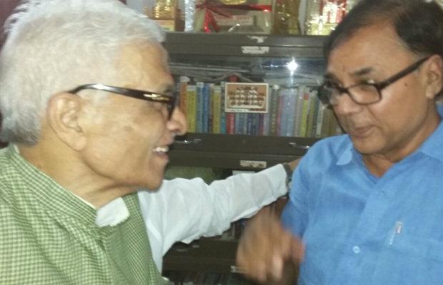 Dr.Madhepuri with Ex.CM Dr.Jagannath Mishra