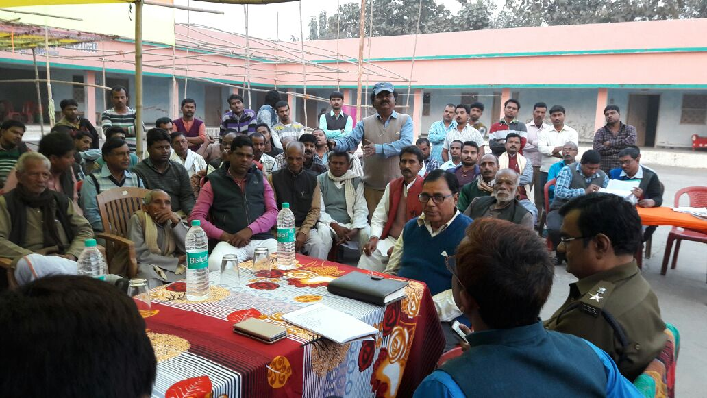 Along with the Members of Singheshwar Temple Trust Dr.Bhupendra Narayan Yadav Madhepuri , DM Md.Sohail (IAS) , SP Vikash Kumar (IPS) & DDC Mithilesh Kumar and others reviewing the arrangements of Shivratri Mela and Tri-Diwasiya Singheshwar Mahotsava - 2017 .