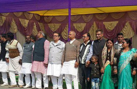 State Energy Minister  Shri Bijendra Prasad Yadav , Samajsevi Dr.Bhupendra Madhepuri , Finance Secretary Shri Rahul Singh (IAS) , Zila Parishad Chairman Manju Devi , Ex-MLA Ohm Babu and Countless ladies & gents attending