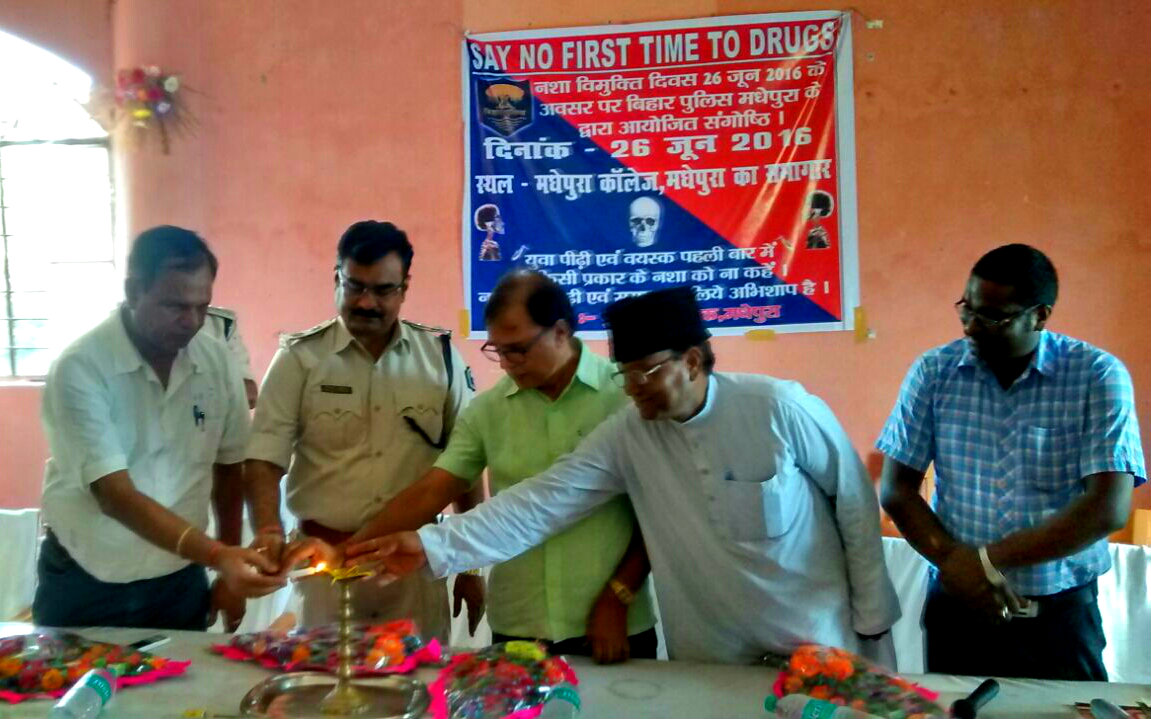 Samajsevi Dr.Bhupendra Madhepuri inaugurating a seminar organised by Police Department on