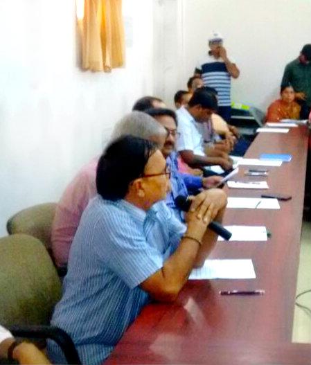 Addressing at Samaharnalaya meeting hall Madhepura on Hindi Diwas 2017.