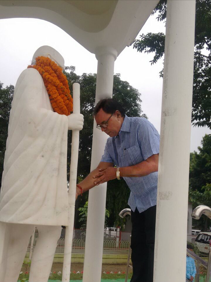 Madhepuri with Mahatma ! Celebrating Gandhi Jayanti by paying tribute to Rashtrapita Mahatma Gandhi on 2nd October - 2017 at Madhepura.