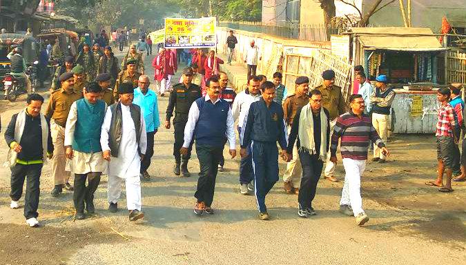 Samajsevi Dr.Bhupendra Madhepuri along with DM Md.Sohail , SP Vikas Kumar , SDM Sanjay Kumar Nirala and other officers taking part in awareness campaign of Nasha Mukti Diwas  at Madhepura.