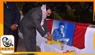 Educationist Dr.Bhupendra Madhepuri paying homage to the Social Champion, Great lawyer Sri Shivneshwari Prasad on the occasion of his birth anniversary at Madhepura.