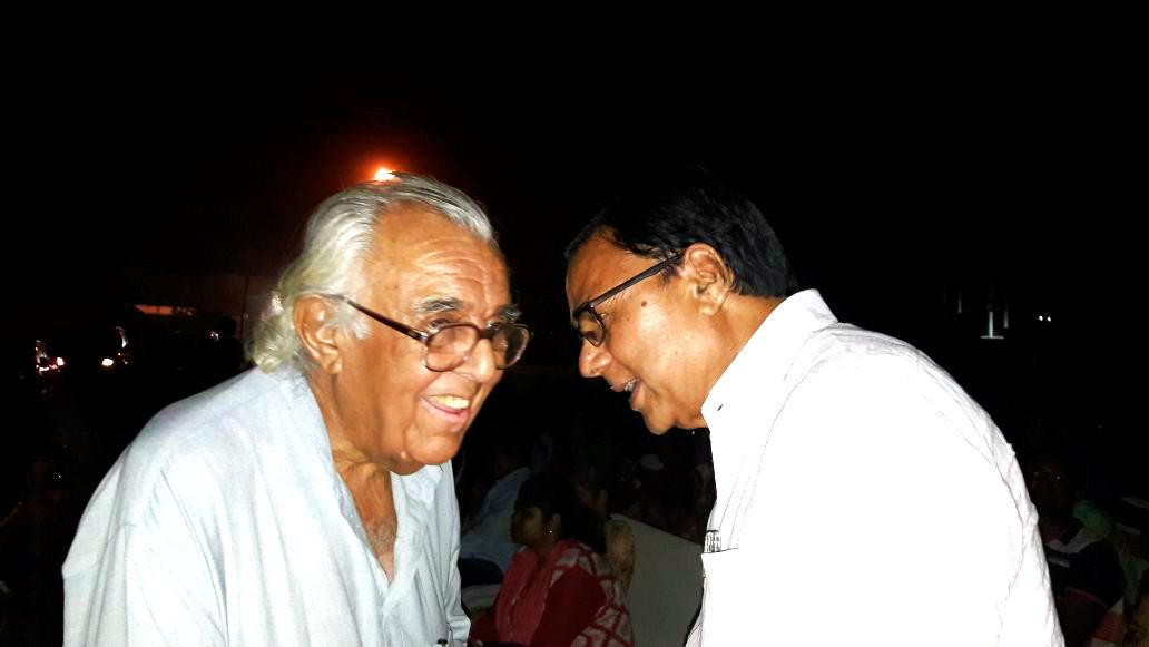 Dr.Madhepuri with Sri Ranvir Singh, National President of IPTA.