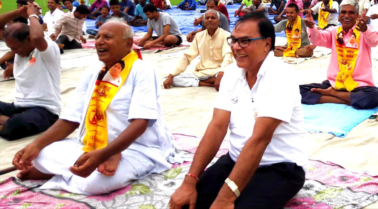 Dr.Madhepuri, Shri Janardan Prasad Yadav & others performing