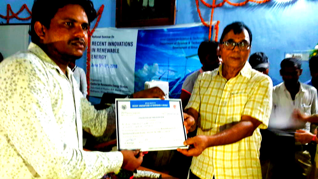 Certificate Distribution Ceremony on the eve of National Seminar.