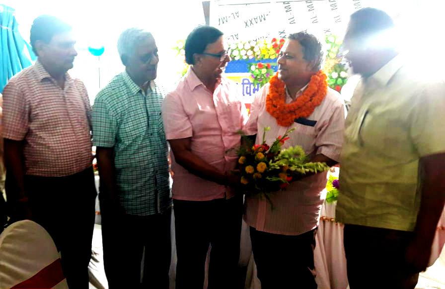 Dr.Madhepuri , Dr.N.K.Nirala, Prof.S.K.Yadav & CS Madhepura Dr.Shailendra Kumar greeting CS Dr.Pandey.