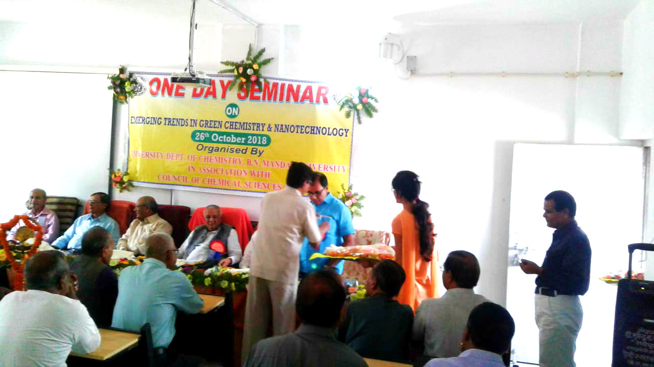 Dr.Madhepuri receiving honour in the inaugural function of the Seminar on