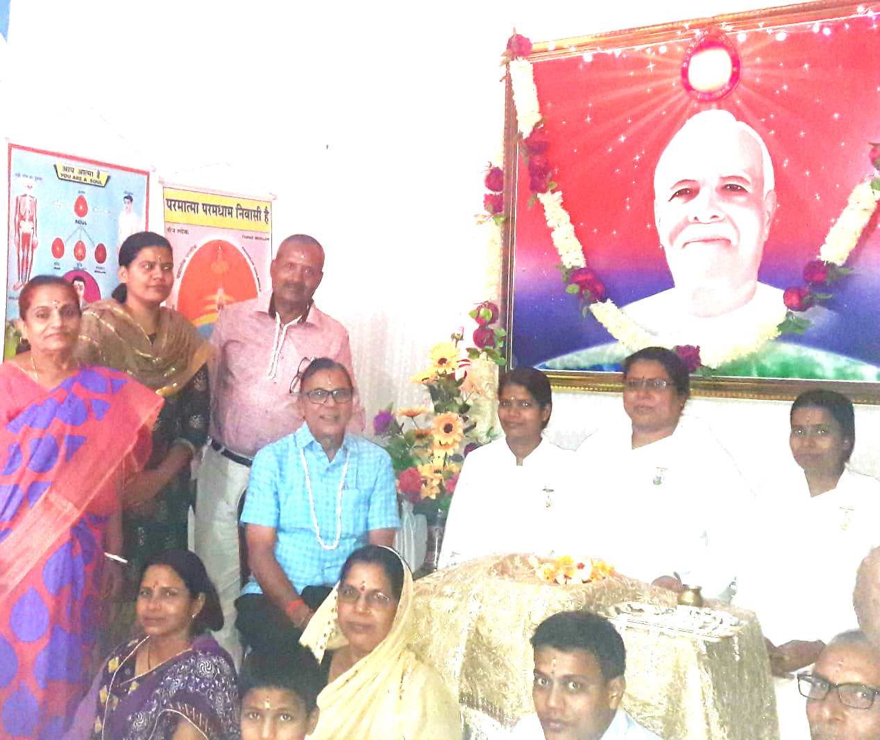 Dr.Madhepuri celebrating Bhaiya Doose alongwith Brahma Kumari Ranju Didi, Janki , Durga, Sanjita, Dr.NK Nirala and others at Madhepura.