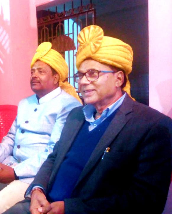 Dr.Madhepuri in Pagdi with Samdhi Dr.N.K.Nirala.