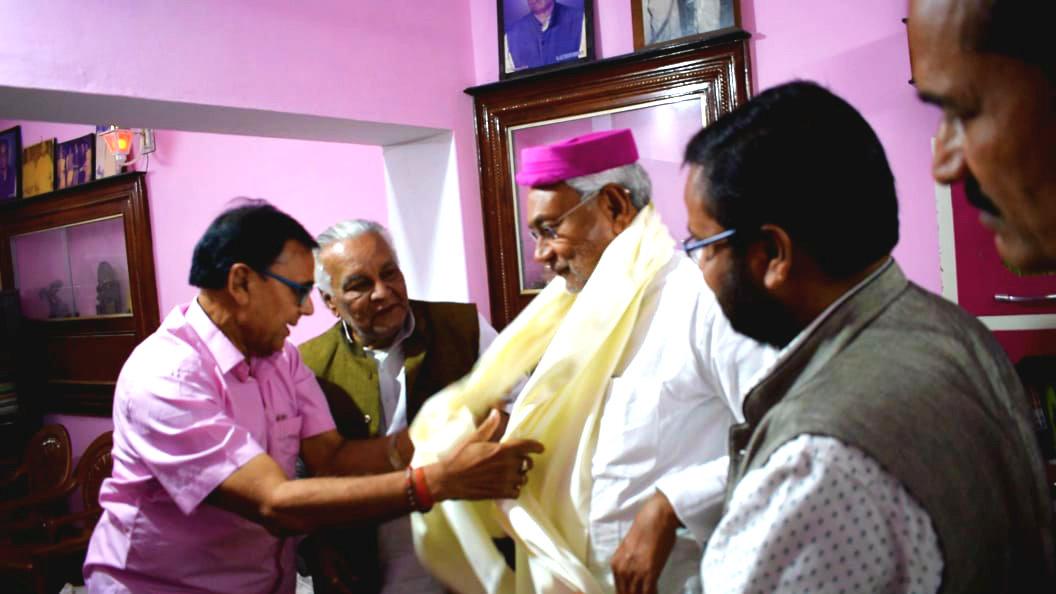 Emotional feelings prevailing around the Honourable CM of Bihar Shri Nitish Kumar.