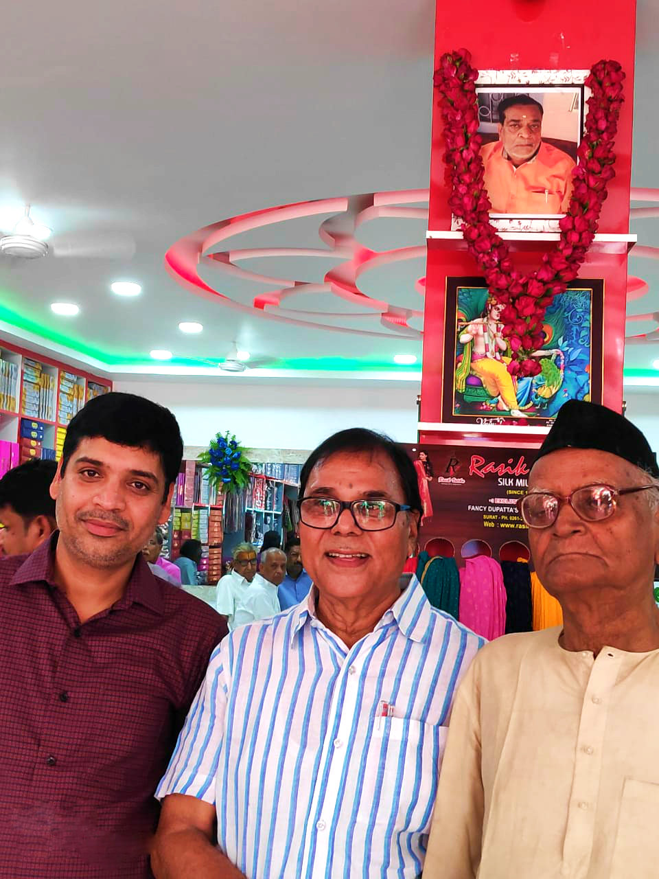 Educationist Dr.B.N.Yadav Madhepuri, Secretary Kaushiki Hindi Sahitya Sammelan along with its Chair Person Sahityakar-Itihaskar Shri Hari Shankar Shrivastava Shalabh & Pankaj Kumar in the opening ceremony of