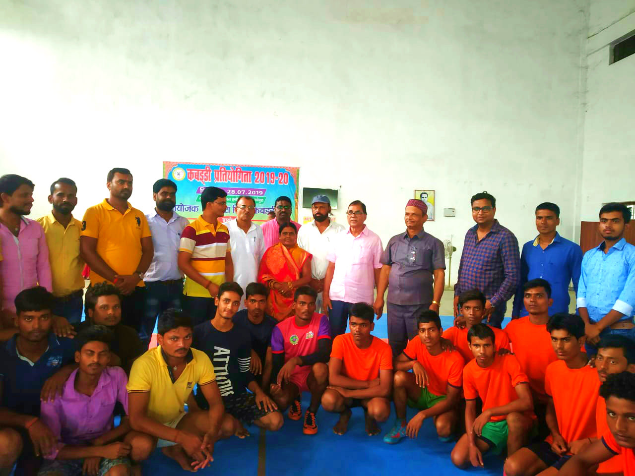 With Boy Players at BP Mandal Indoor Stadium.
