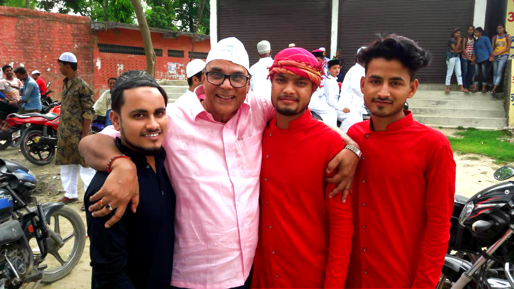 Dr.Madhepuri celebrating Eid Milan with youngsters.