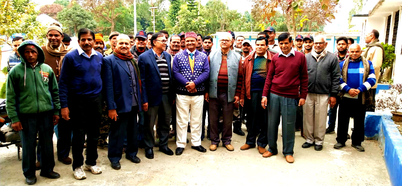 Samajsevi Dr.Madhepuri, Registrar Dr.Kapildev Prasad, Senator Dr.Naresh Kumar, Dr.Arun Kumar, Dr.Lalan Kumar Adri and others during the Jayanti Celebration of Former Education Minister & Member of Parliament Dr.Mahaveer Prasad Yadav at BNMU Campus.