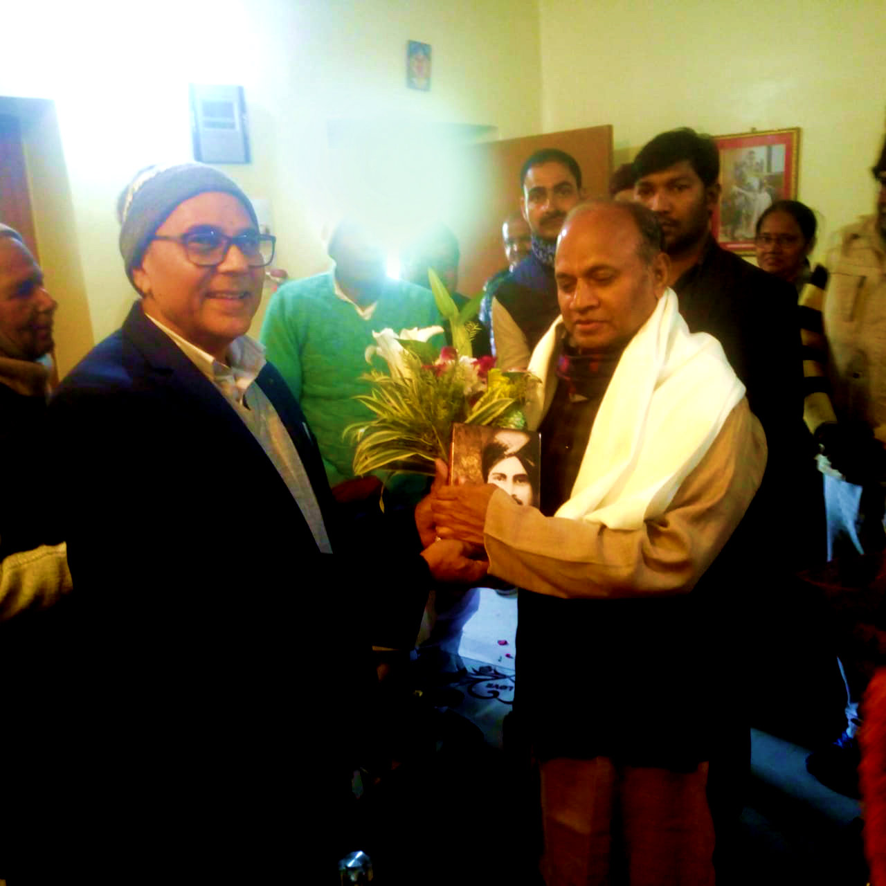 Dr.Madhepuri with MP(RS) Shri R.C.P. Singh.
