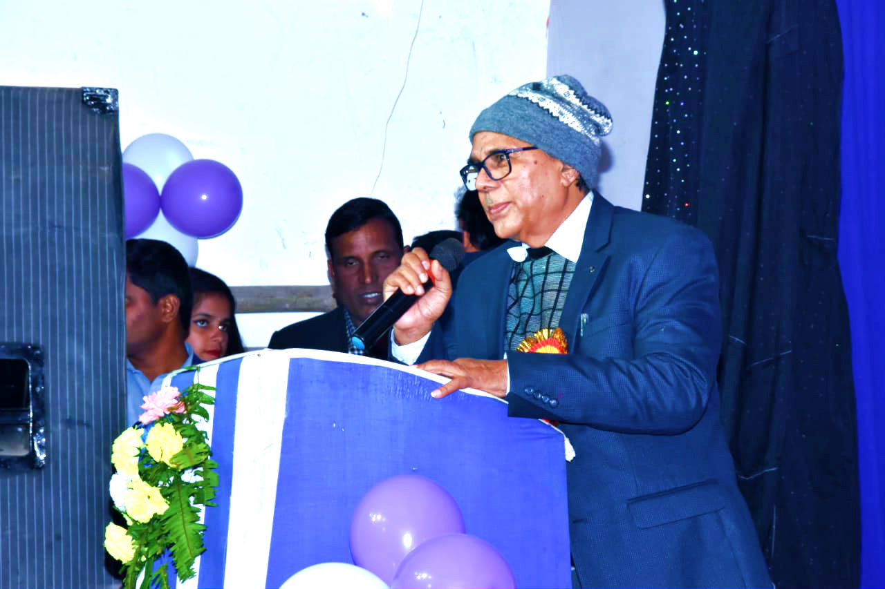 Dr.Madhepuri delivering inaugural speech.
