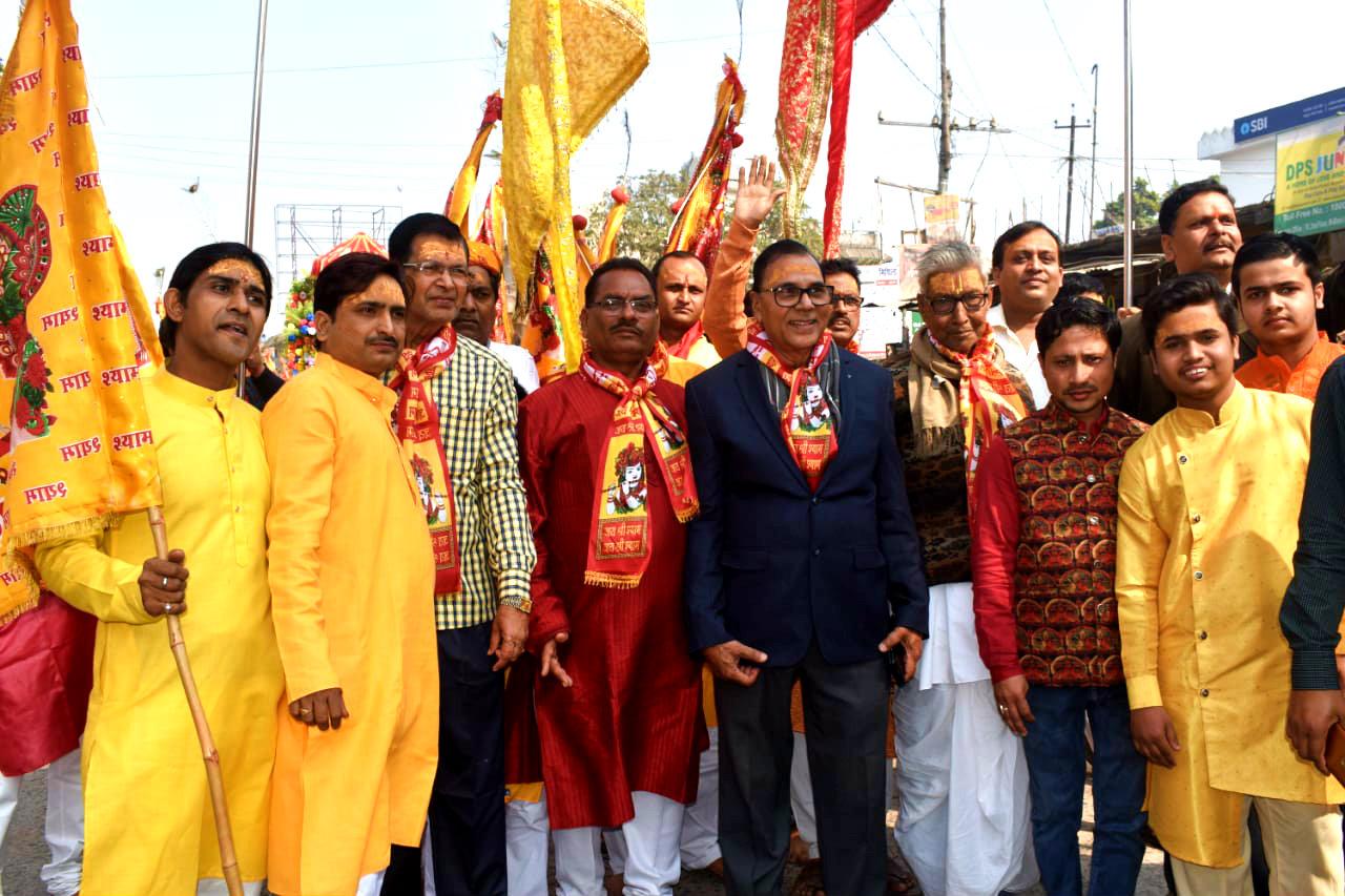 Procession from Sagar Seva Sadan to Jeevan Seva Sadan.
