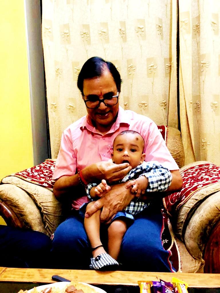 Dr.Madhepuri with Chhote Kalam.